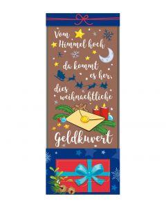"""Schokoladentafel """"Der weihnachtliche Geldkuvert"""" , 70g"""