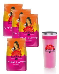 CHAIPUR Chai Latte 4 x 500g und kostenlosen Mixbecher dazu