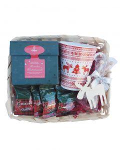 Geniesserset Classic Christmas mit Tea Diamonds Rooibos Winterpunsch, Shortbreads und Weihnachtsbecher