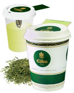 Eilles Tea-2-Go Grüntee Asia Superior 12er Pack mit Becher