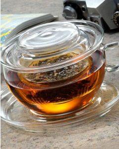 Tea Time Glastasse mit Sieb