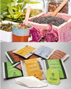FRUCHT & KRÄUTER Tee-Probierpaket von EILLES TEE mit gratis Teeglas