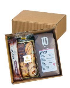 Zeit für Kaffee Geschenkbox mit Kaffee, Gebäck und heisse Schokolade