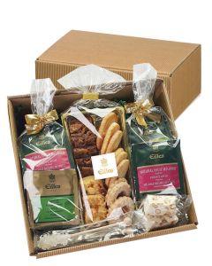 Zeit für Tee Geschenkbox mit 20 feinen EILLES Deluxe Teebeuteln, Gebäck und Kandis